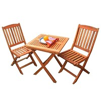 Outdoor Wood Bistro Set by Vifah