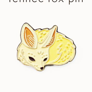 Fennec Fox Enamel Pin - Desert Fox Pin by boygirlparty