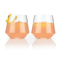 Crystal Cocktail Tumbler Set