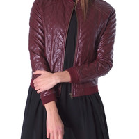 Bordeaux Bomber Jacket - Burgundy