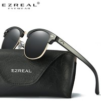EZREAL Brand Classic Black Polarized Sunglasses Men Women Driving Sun Glasses For Man Shades Eyewear With Box Oculos 5161
