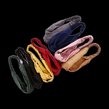 8 PCS Women Cross Hairband Printing Stretchy Headwrap Elastic Hair tie Accessories for Women Girls (Mixed Color)