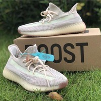 Adidas Yeezy Boost 350 V2 Citrin Sport Running Shoes Casual