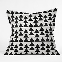 Holli Zollinger Triangles Black Throw Pillow