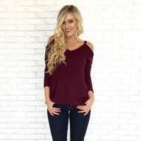 All Mine Sweater Top in Plum