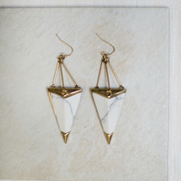 Uncover Triangle Stone Earring