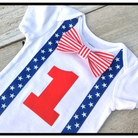 Boys 4th of July Onesuit, Baby Boys 1st 4th of July Onesuit, Boys 4th of July Birthday Tshirt, Stars and Stripes
