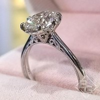 Kirk Kara Stella Oval Cut Diamond Solitaire Engagement Ring
