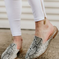 Slip Into These Snakeskin Mules