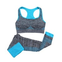 Yoga Set Women Sports Bra Sexy Push Up Gym Breathable Fitness Running Clothes Workout Sport Costumes