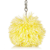 River Island Girls yellow pom pom charm keyring