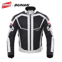 DUHAN Summer Motorcycle Jacket Men Motorbike Jacket Moto Protective Gear Breathable Mesh Reflective Riding Jacket Biker Clothing