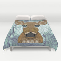 Doe eyed Duvet Cover by ArtLovePassion