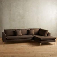 Linen Edlyn Right Sectional by Anthropologie
