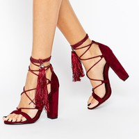 Missguided Rope Detail Tassle Sandal