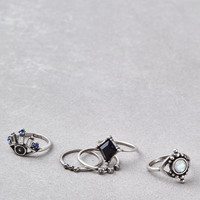 AEO SILVER EYE RINGS 5-PACK, Silver