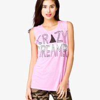 Crazy Dream Graphic Muscle Tee