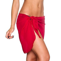 Short and Sexy Solid Colored Women's Beach Sarong Wrap Cover Up