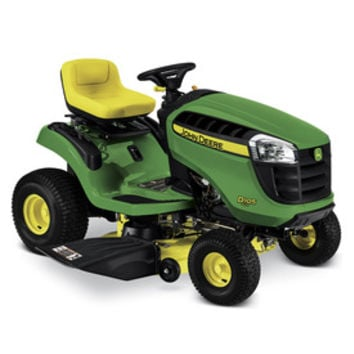 Shop John Deere D105 Automatic 42-in Riding Lawn Mower with Briggs & Stratton Engine and Mulching Capable at Lowe's
