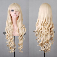 Fashion Women's Lolita Party Long Curly 10 color Synthetic Hair Cosplay Full Wig