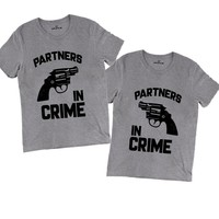 Couples T-shirts - Partners In Crime