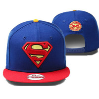 Superman Snapback Blue/Red by Flash's Dopetastic Hats