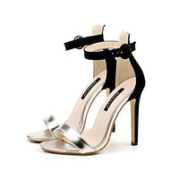 Hasp Ankle Wraps Stiletto High Heels Prom Sandals