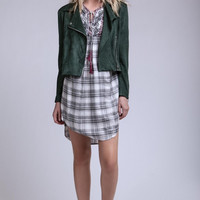 Green with Envy Suede Motorcycle jacket