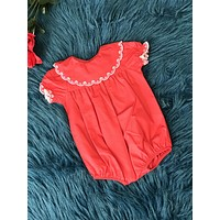 Love Me Red Infant Romper CH