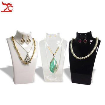 3 x Fashion Jewelry Display Bust Acrylic Storage Box Mannequin Jewelry Holder for Earring Hanging Necklace Stand Holder Doll