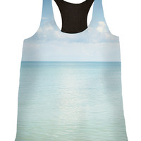 Cloud Reflections Silk Fashion Tank Top - Breezy Summer Style