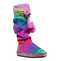 MUK LUKS Angie Women's Cable-Knit Slouch Boot Slippers