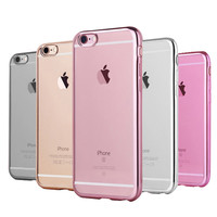 TPU Silicon Case For Apple iPhone 6 6s 4.7 Inch Transparent Matte Cover Coque Ultra-thin Luxury Soft Clear Dual Hybrid
