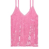 Velvet Sleep Tank - PINK - Victoria's Secret