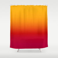 sunSET Ombre Gradient Shower Curtain by 2sweet4words Designs