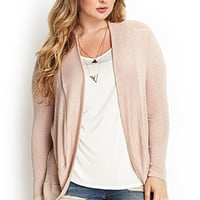 FOREVER 21 PLUS Lace Open-Knit Cardigan