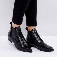 Intentionally Blank Brad Black Lace Up Ankle Boots at asos.com