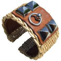 Hermes Medor Picnic Cuff Osier CDC Manchette Fauve PHW Size S Limited
