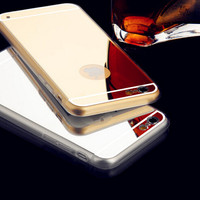 iphone 6 4.7 inch electroplating mirror cover