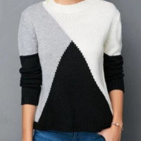 Explosive sweater autumn and winter loose round neck women's regular sweater