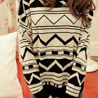 Geometrical Pattern Sweater from Bblythe