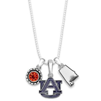 University of Auburn Tigers State Charm Necklace
