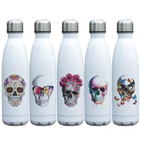 17oz Skull Themed Vacuum Flask Double Wall Stainless Steel Thermos