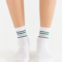 Out From Under Sparkle Stripe Tube Sock   Urban Outfitters