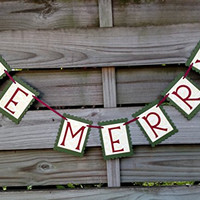 Be Merry Banner - Christmas Decoration and Photo Prop