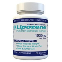 Lipozene Diet Pills - Maximum Strength Fat Loss Formula - 1500mg - 30 Capsules