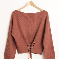 Carly Corset Sweater