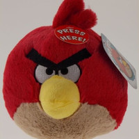 Angry Birds Plush Big Brother Red Bird Sounds Commonwealth Toys Rovio Stuffed