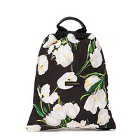 Dolce and Gabbana Mens Drawstring Bag In Floral Print