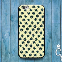iPhone 4 4s 5 5s 5c 6 6s plus iPod Touch 4th 5th 6th Generation Cool Pot Leaf Pattern Green White 420 Funny Fun Custom Phone Cover Cute Case